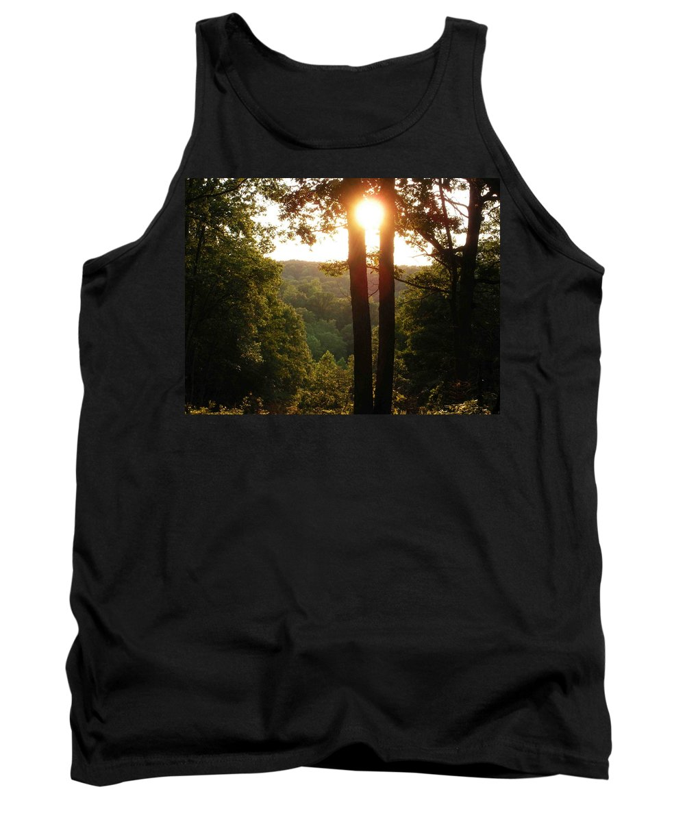 Sunset Tank Top featuring the photograph Sunset On The Trace by Nelson Strong