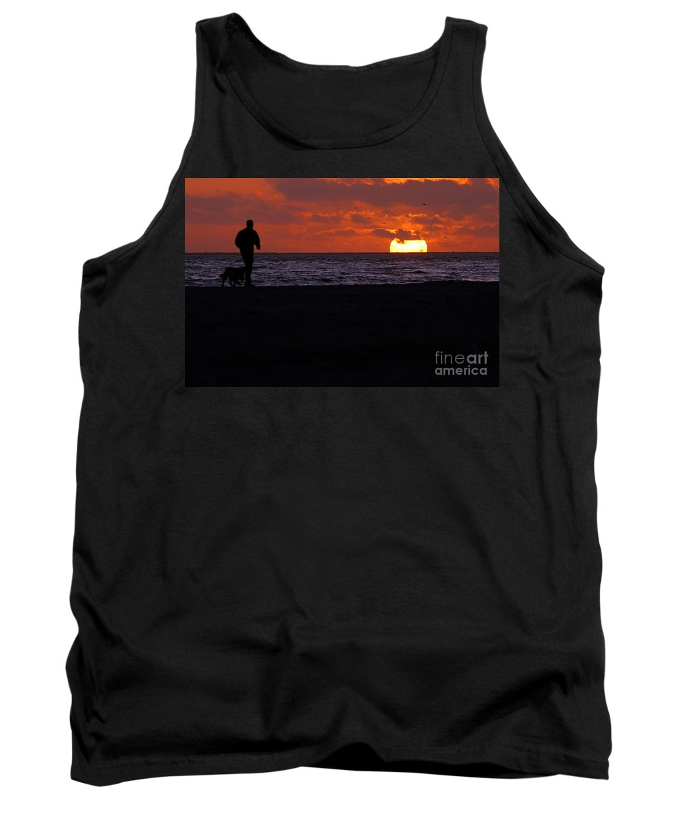 Clay Tank Top featuring the photograph Sunset Run by Clayton Bruster