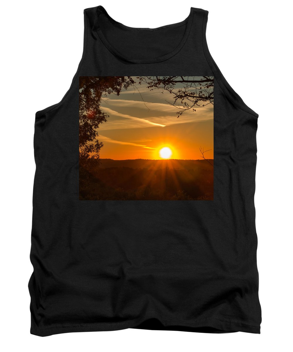 2015 Tank Top featuring the photograph Sunset Vienna West Virginia by Edie Ann Mendenhall