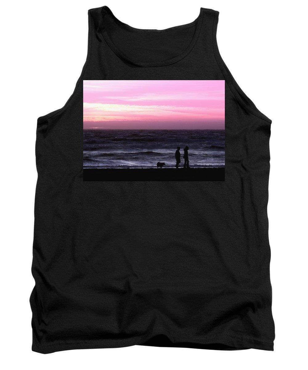 Nature Tank Top featuring the photograph Sunset Walk by John K Sampson
