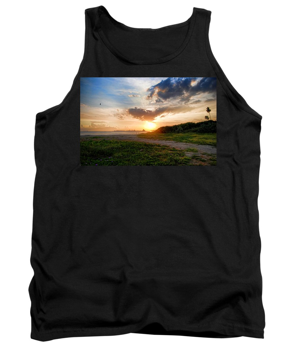 Puerto Cabello Tank Top featuring the photograph sunshine a at Puerto Cabello by Galeria Trompiz