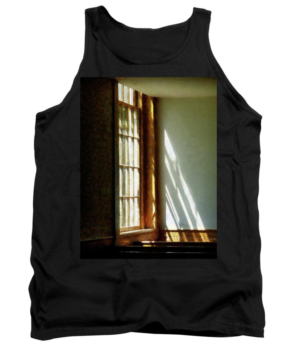 Church Tank Top featuring the photograph Sunshine Streaming Through Window by Susan Savad
