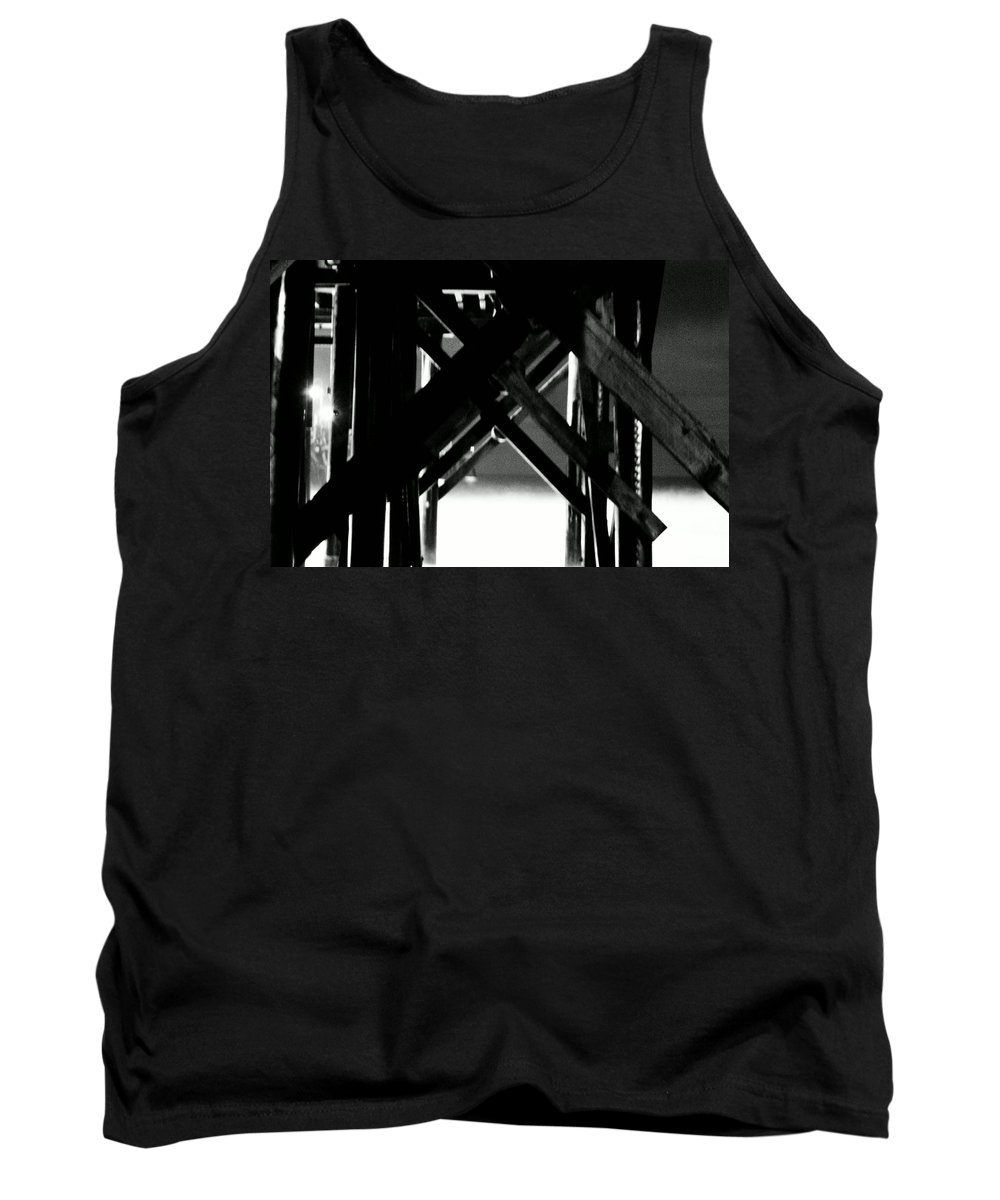 Pier Tank Top featuring the photograph Support by Stephanie Haertling