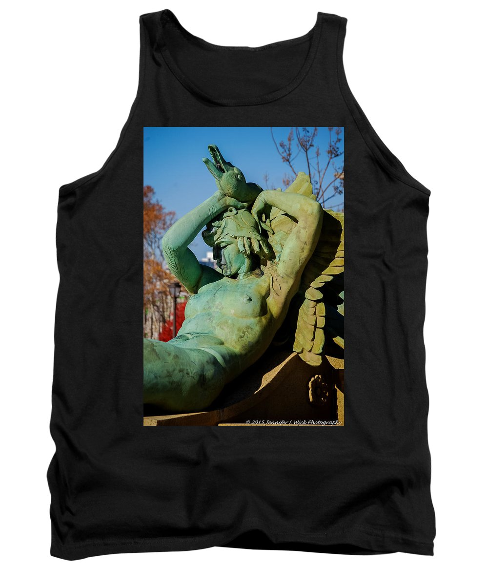 Fountain Tank Top featuring the photograph Swann Memorial Fountain by Jennifer Wick