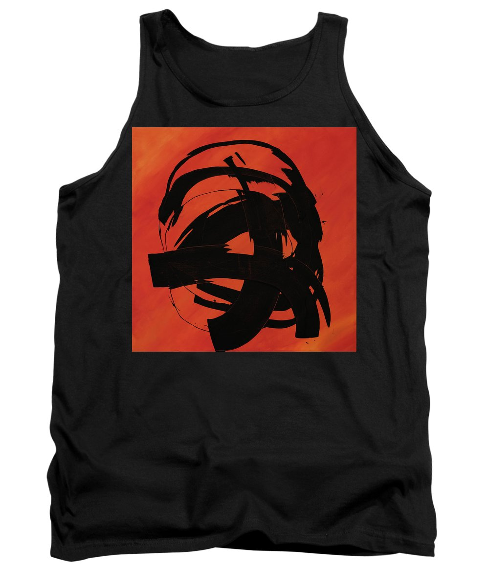 Abstract Tank Top featuring the painting Sweeper by Brian Coller