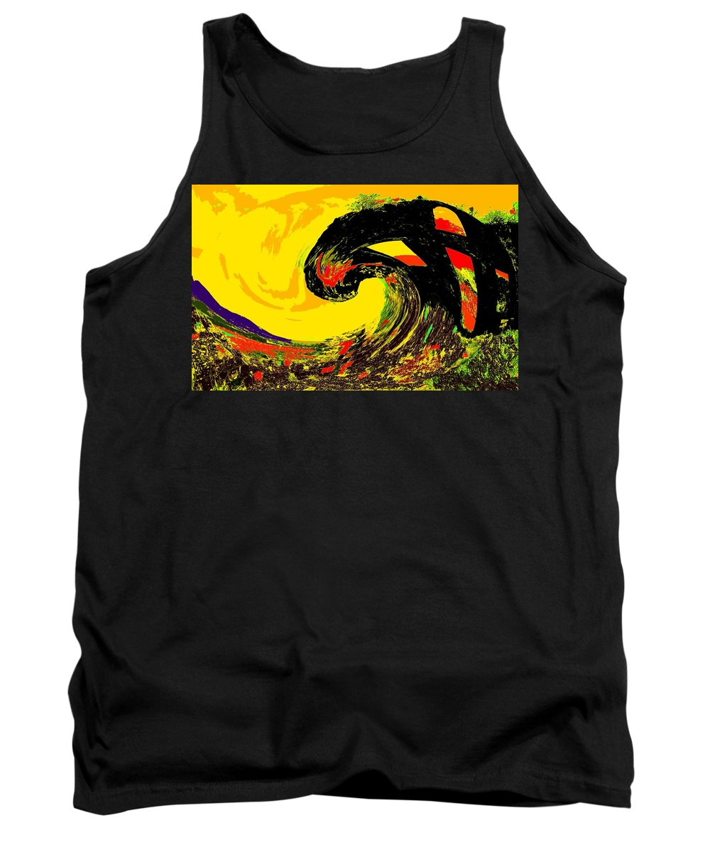 Abstract Tank Top featuring the photograph Swept Away by Ian MacDonald