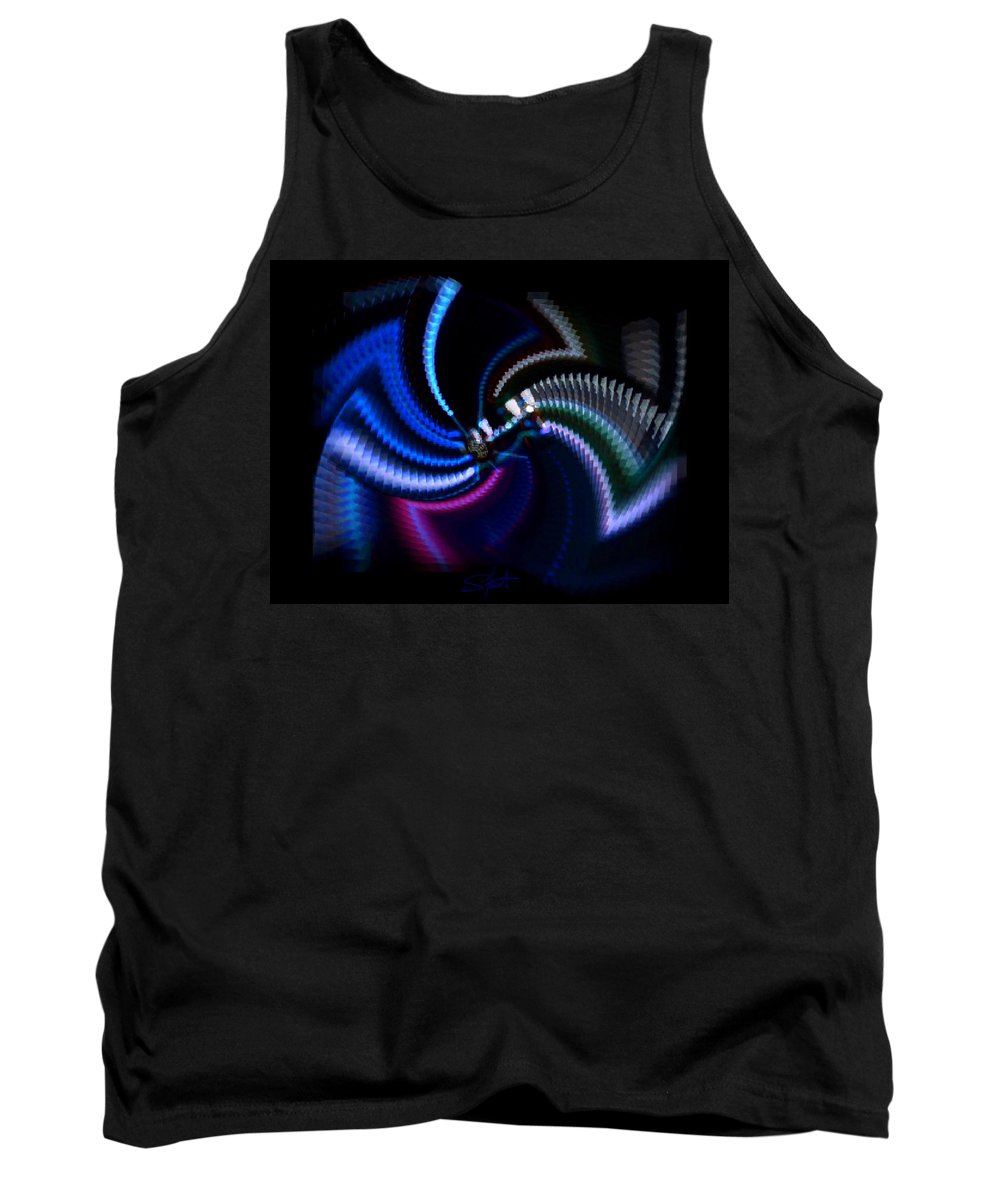 Chaos Tank Top featuring the photograph Swirlerator by Charles Stuart