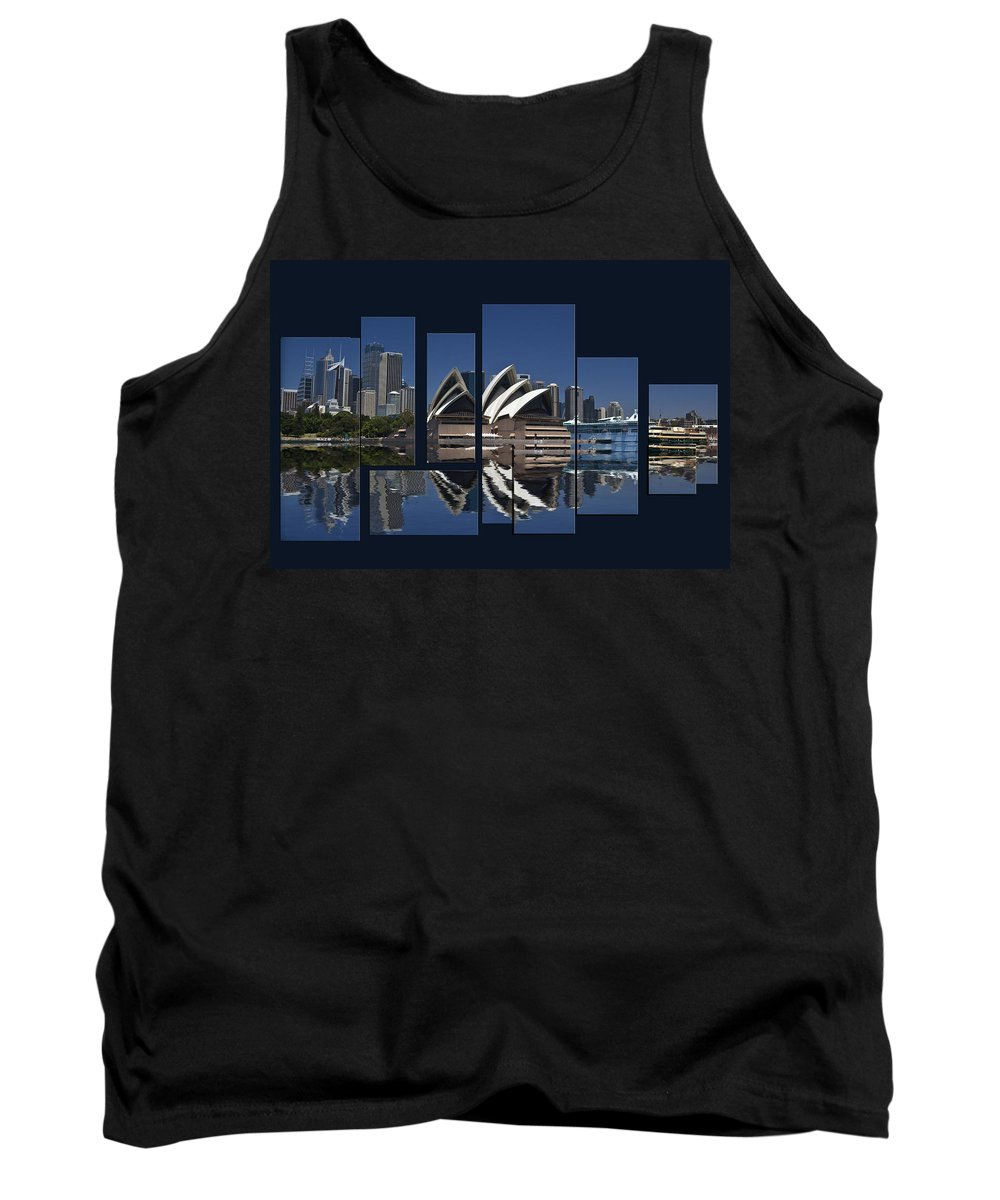 Sydney Harbour Tank Top featuring the photograph Sydney Harbour Collage by Sheila Smart Fine Art Photography
