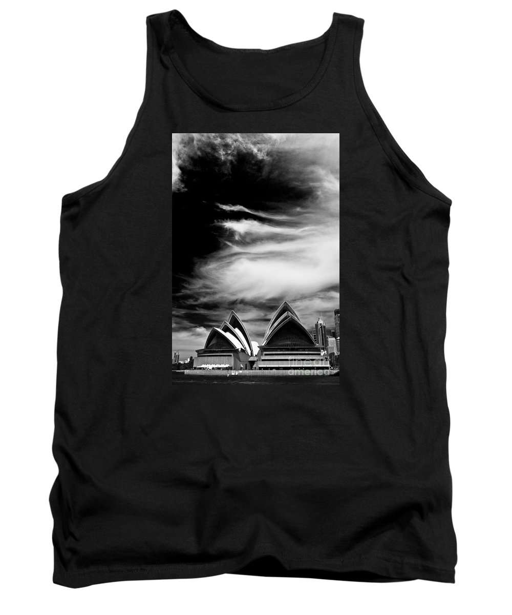 Sydney Opera House Monochrome Tank Top featuring the photograph Sydney Opera House Portrait by Sheila Smart Fine Art Photography