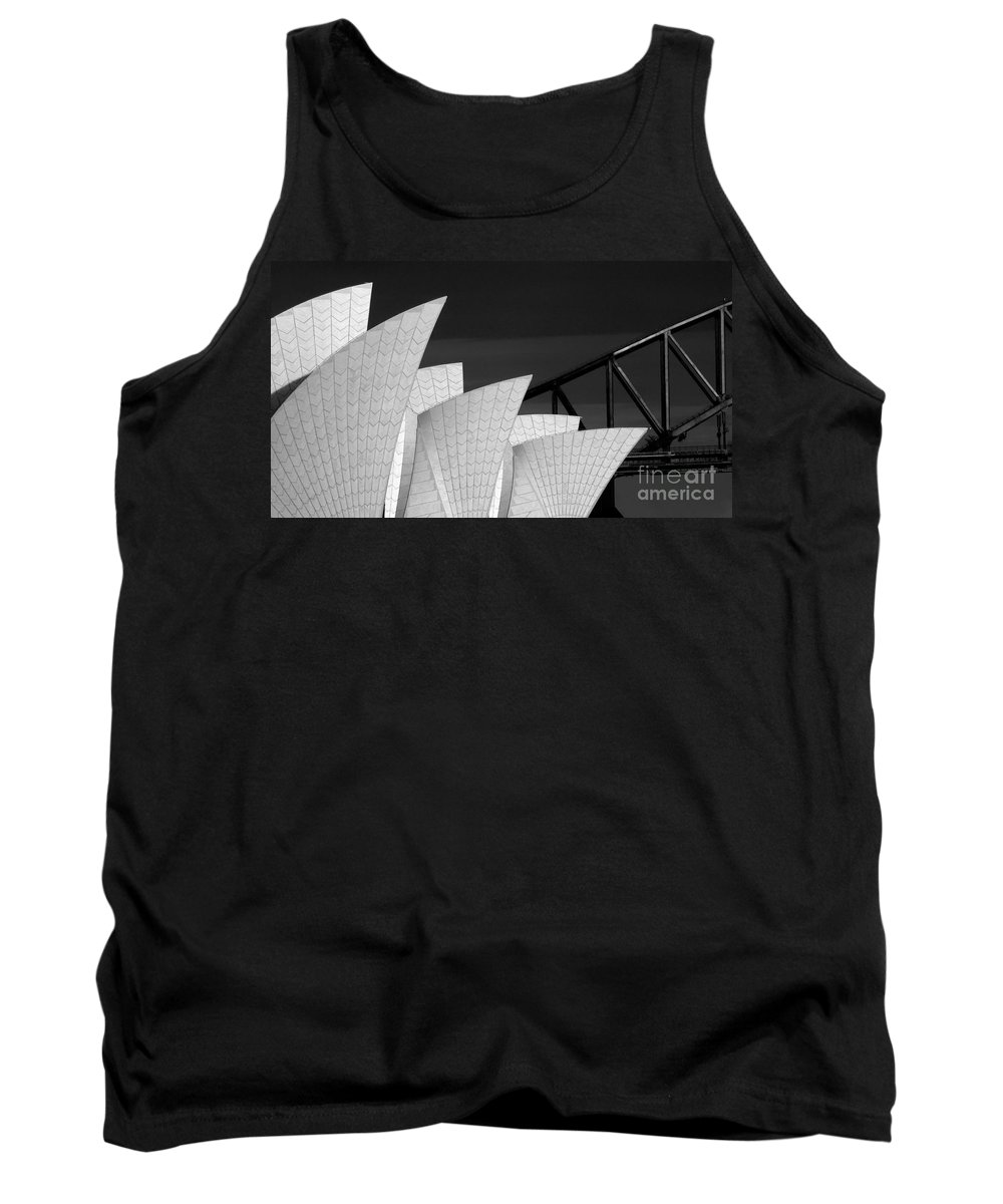 Sydney Opera House Tank Top featuring the photograph Sydney Opera House with bridge backdrop by Sheila Smart Fine Art Photography