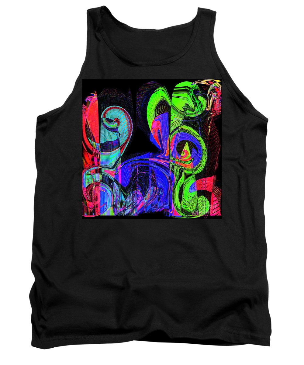 Abstract Tank Top featuring the digital art Symphony by Donna Bentley
