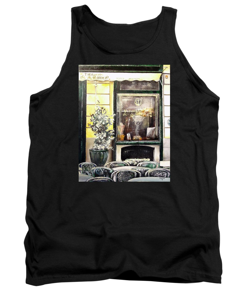 Old Tank Top featuring the painting Taberna Del Alabardero-madrid by Tomas Castano