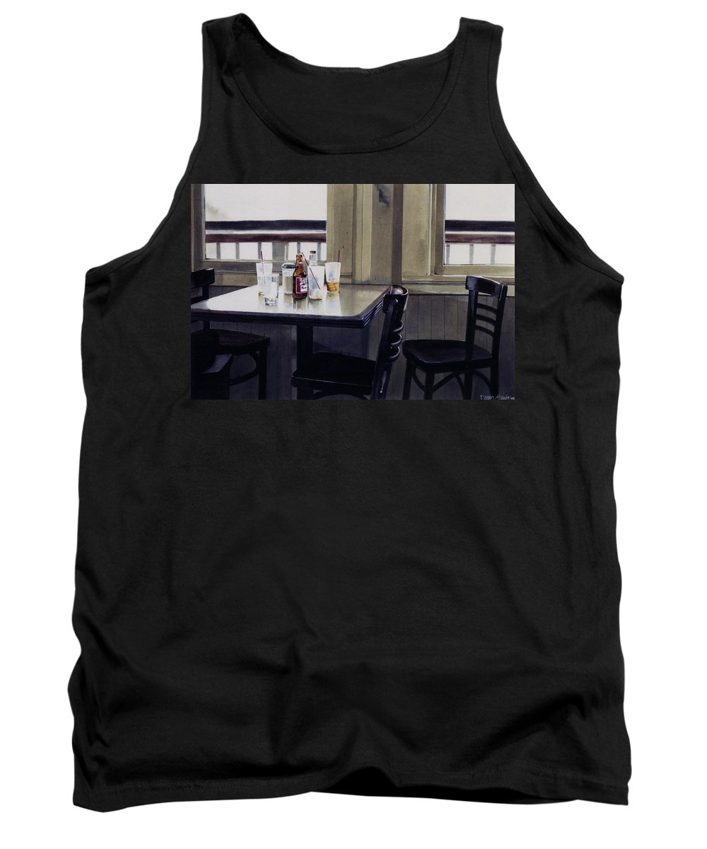 Beer Tank Top featuring the painting Table Setting by Denny Bond