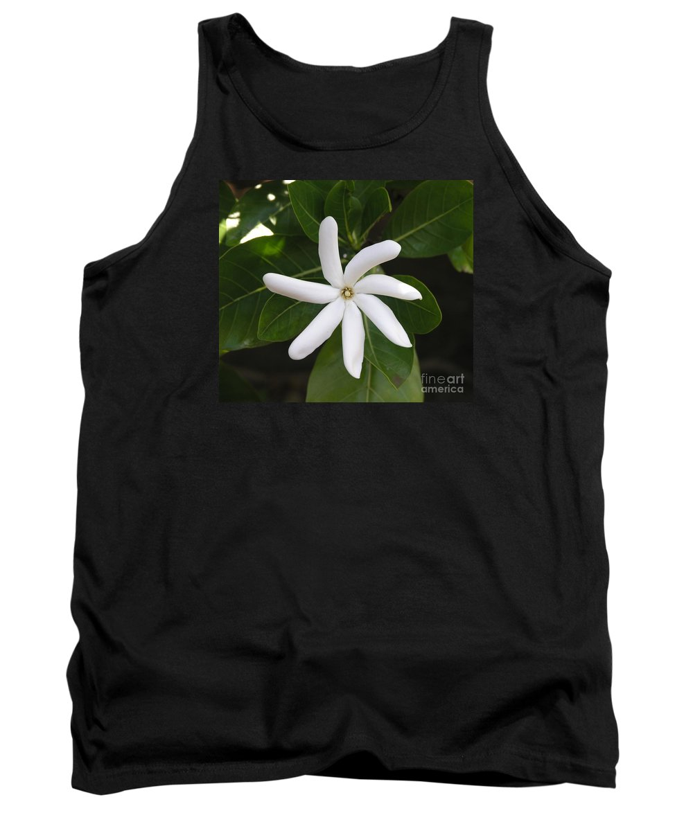 Flowers Tank Top featuring the photograph Tahiti Tiare 1 by Mary Deal