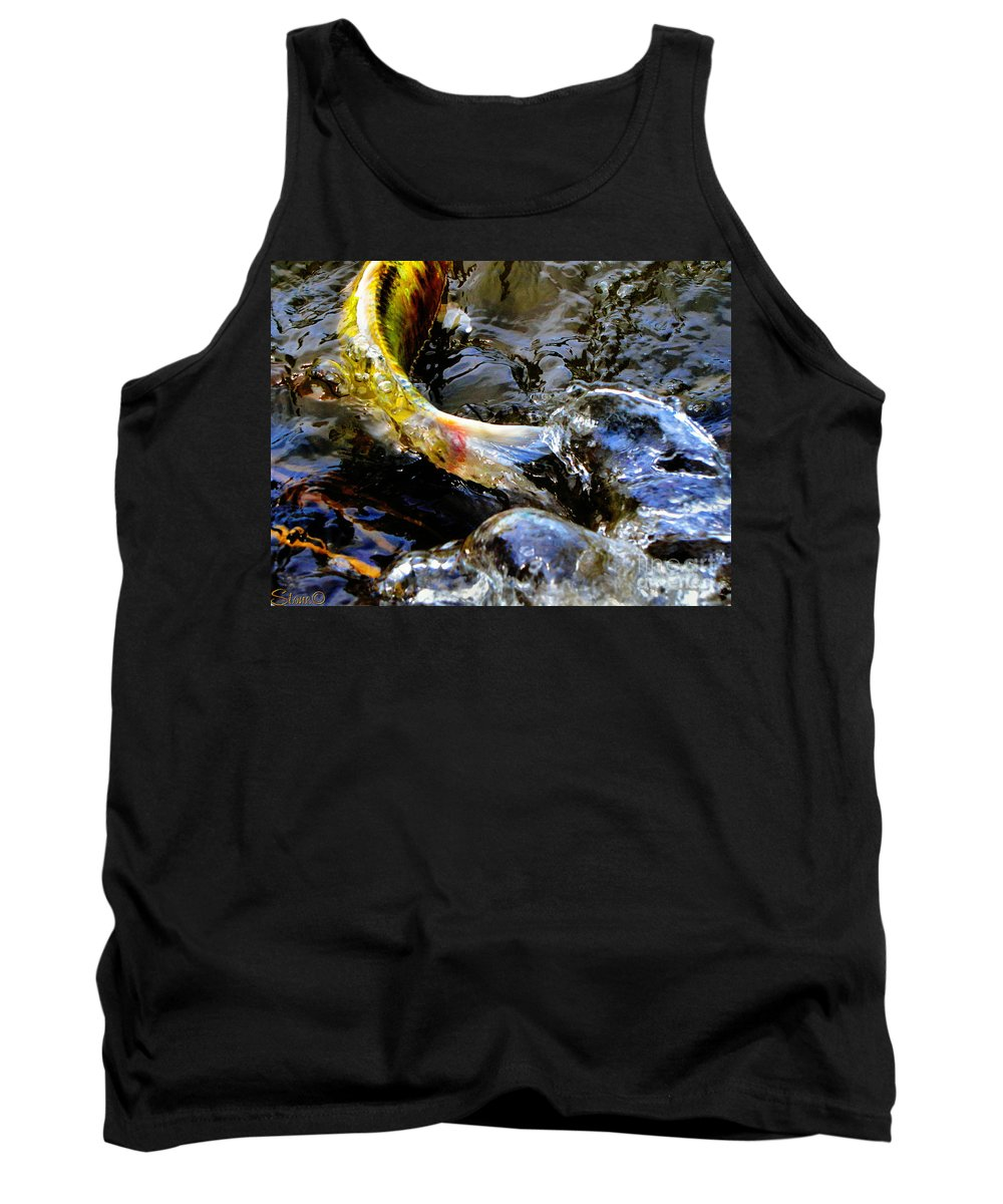 Koi Tank Top featuring the photograph Tale Of The Wild Koi by September Stone