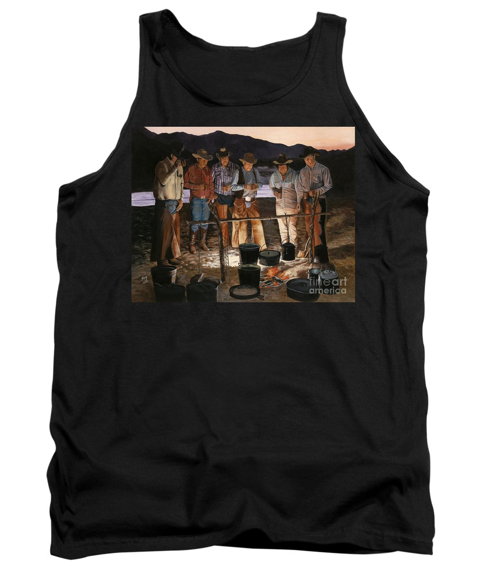 Arizona Tank Top featuring the painting Tall Tales by Mary Rogers