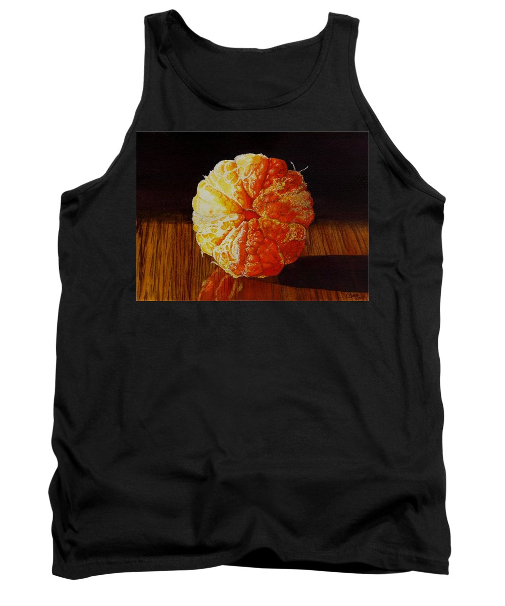 Still Life Tank Top featuring the painting Tangerine by Catherine G McElroy