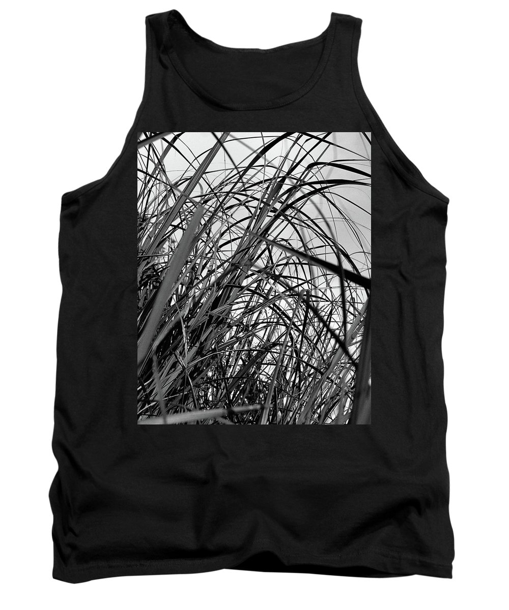 Abstract Tank Top featuring the photograph Tangled Grass by Susan Capuano