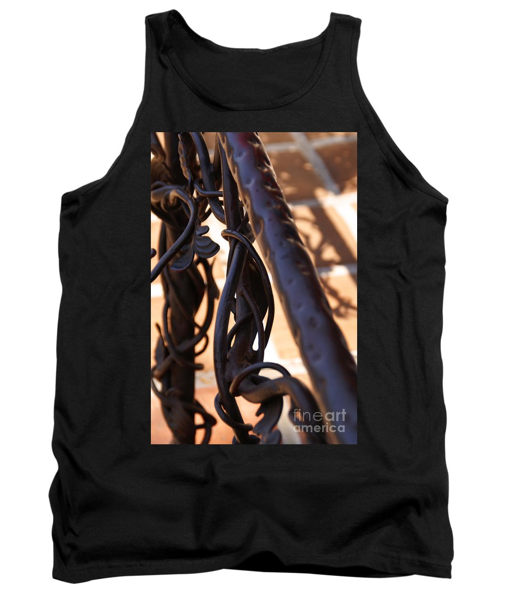 Rail Tank Top featuring the photograph Tangled Vines by Linda Shafer