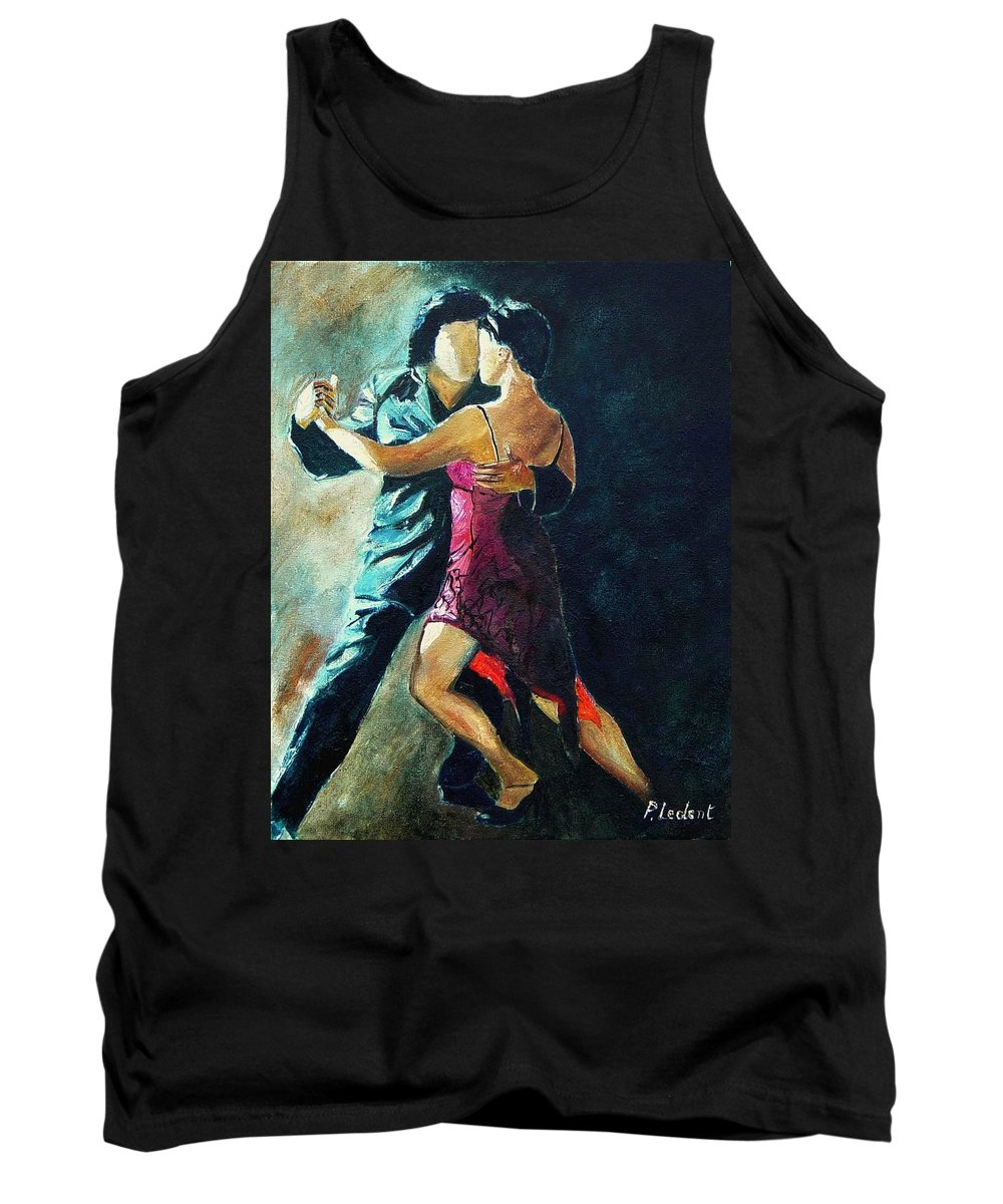 Tango Tank Top featuring the painting Tango by Pol Ledent