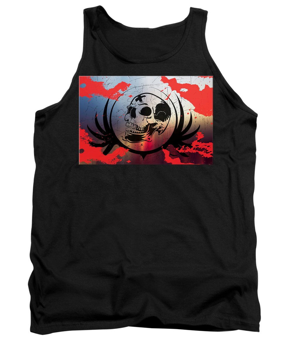 Tears Tank Top featuring the digital art Tears Of A Clown by Michael Damiani