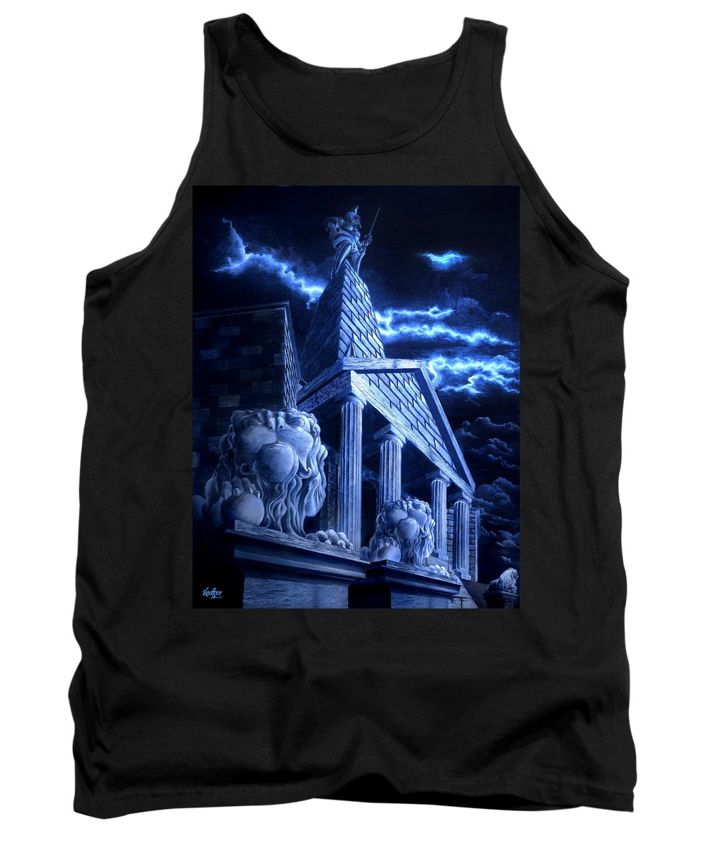 Hercules Tank Top featuring the drawing Temple Of Hercules In Kassel by Curtiss Shaffer
