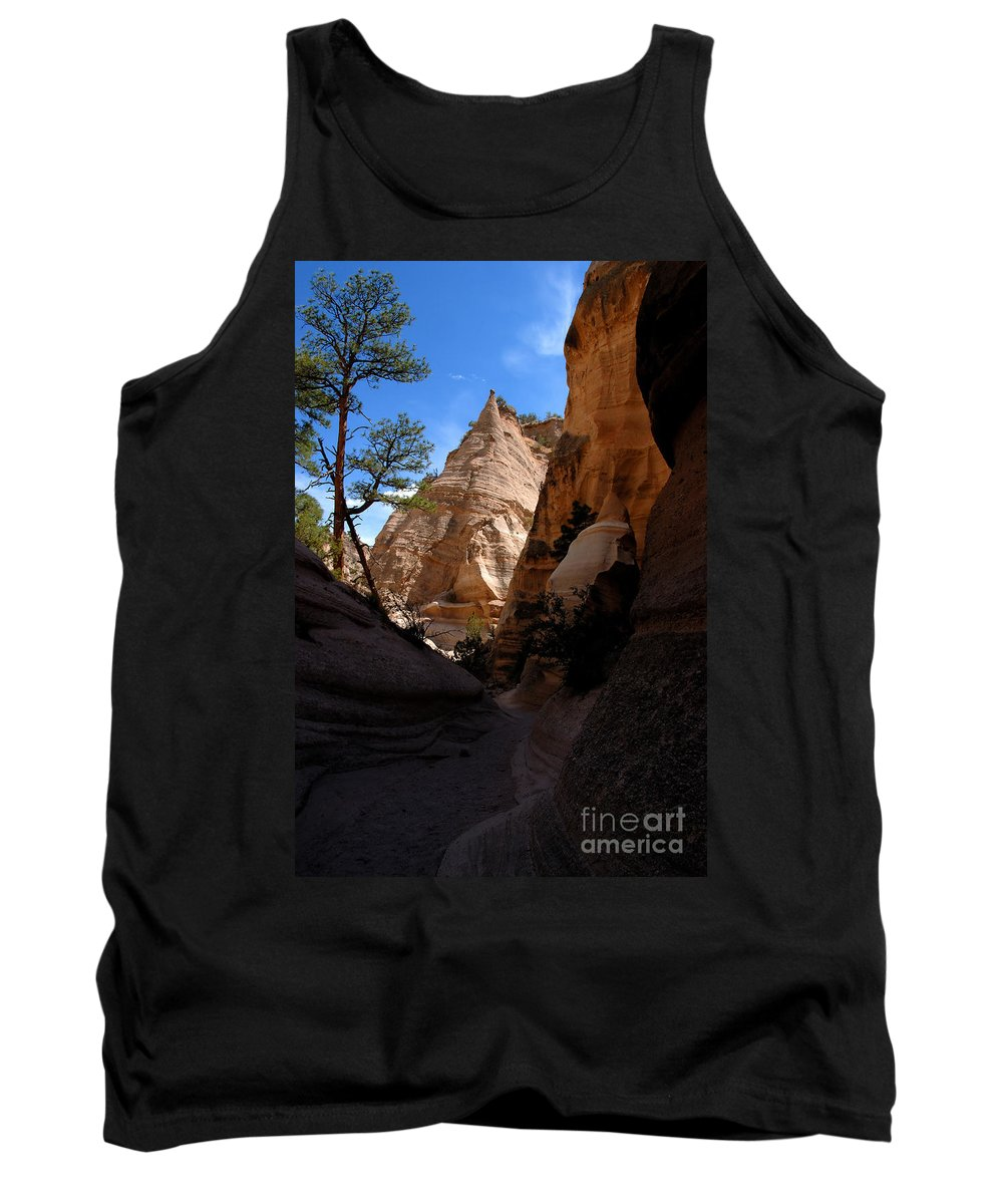 Tent Rocks Wilderness New Mexico Tank Top featuring the photograph Tent Rocks Canyon by David Lee Thompson
