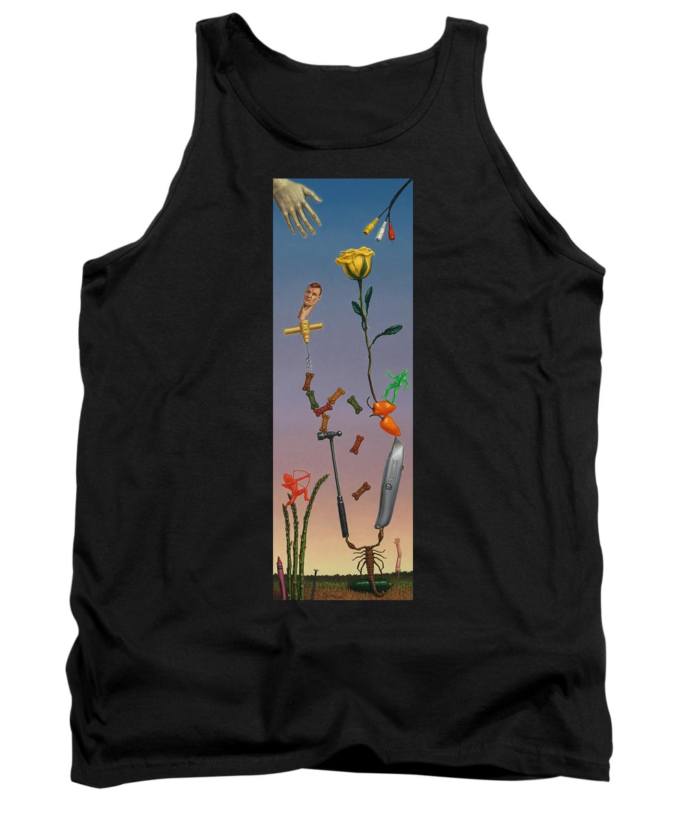 Rose Tank Top featuring the painting Tenuous Still-life 3 by James W Johnson