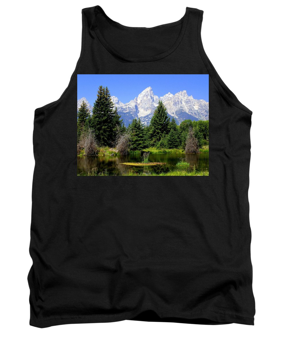 Grand Teton National Park Tank Top featuring the photograph Tetons by Marty Koch