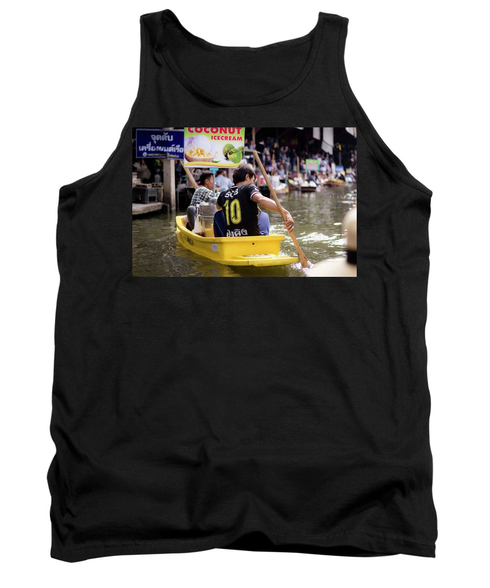 Exotic Tank Top featuring the photograph Thai Village 5 by Jijo George
