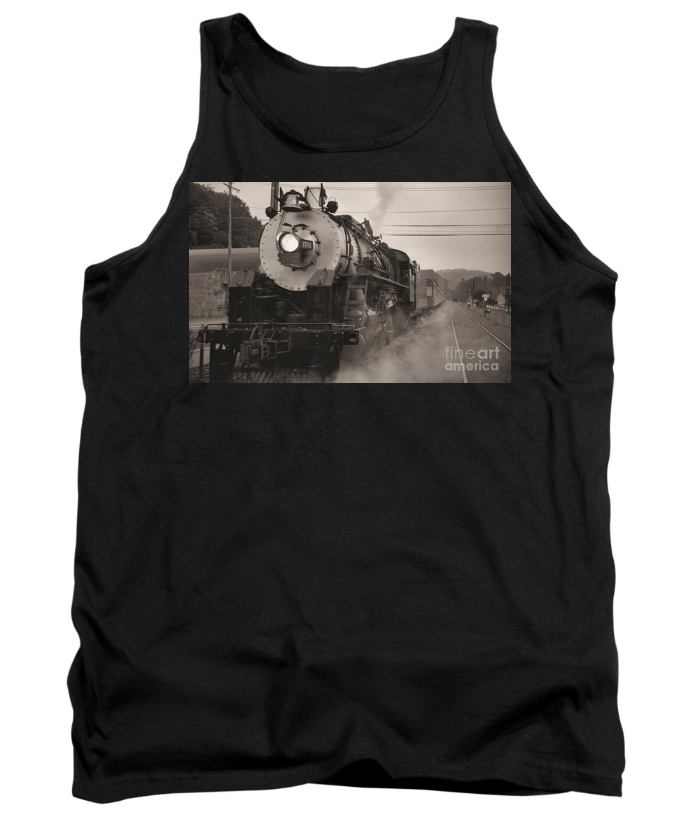 Trains Tank Top featuring the photograph The 1702 At Dillsboro by Richard Rizzo