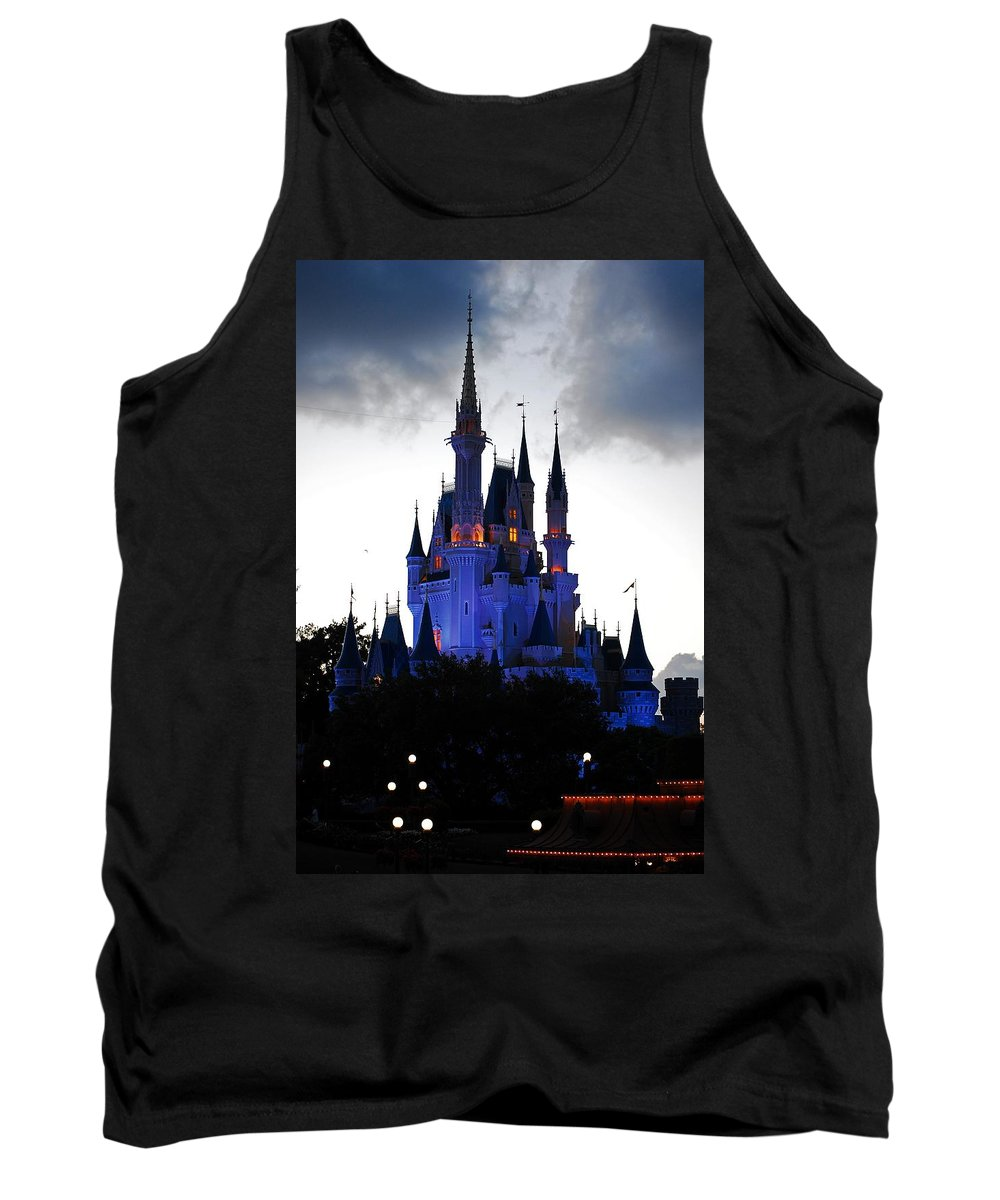 Disney Tank Top featuring the photograph The Amethyst Palace by Robert Meanor