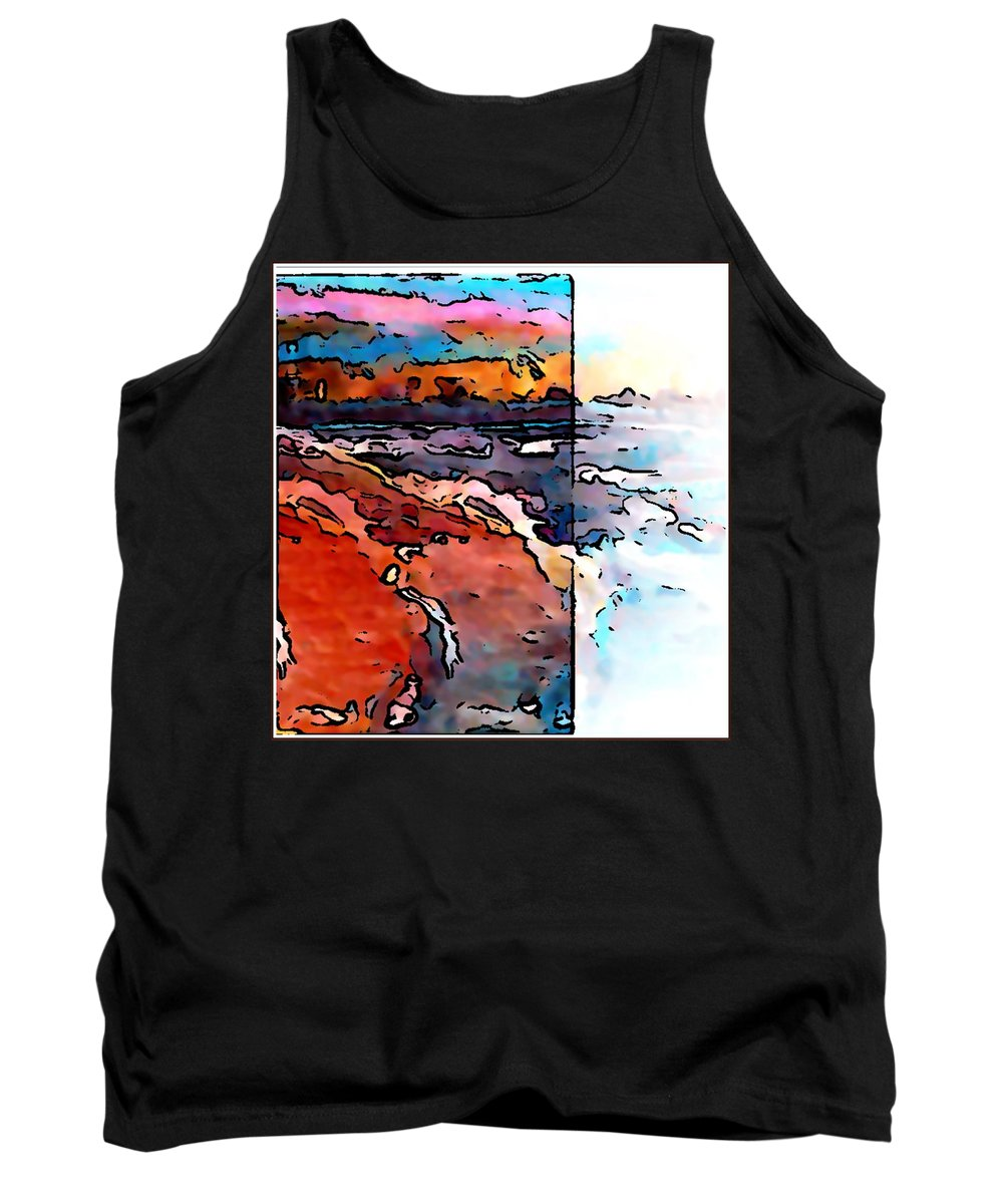 Art Tank Top featuring the painting The Beach by Gregory McLaughlin