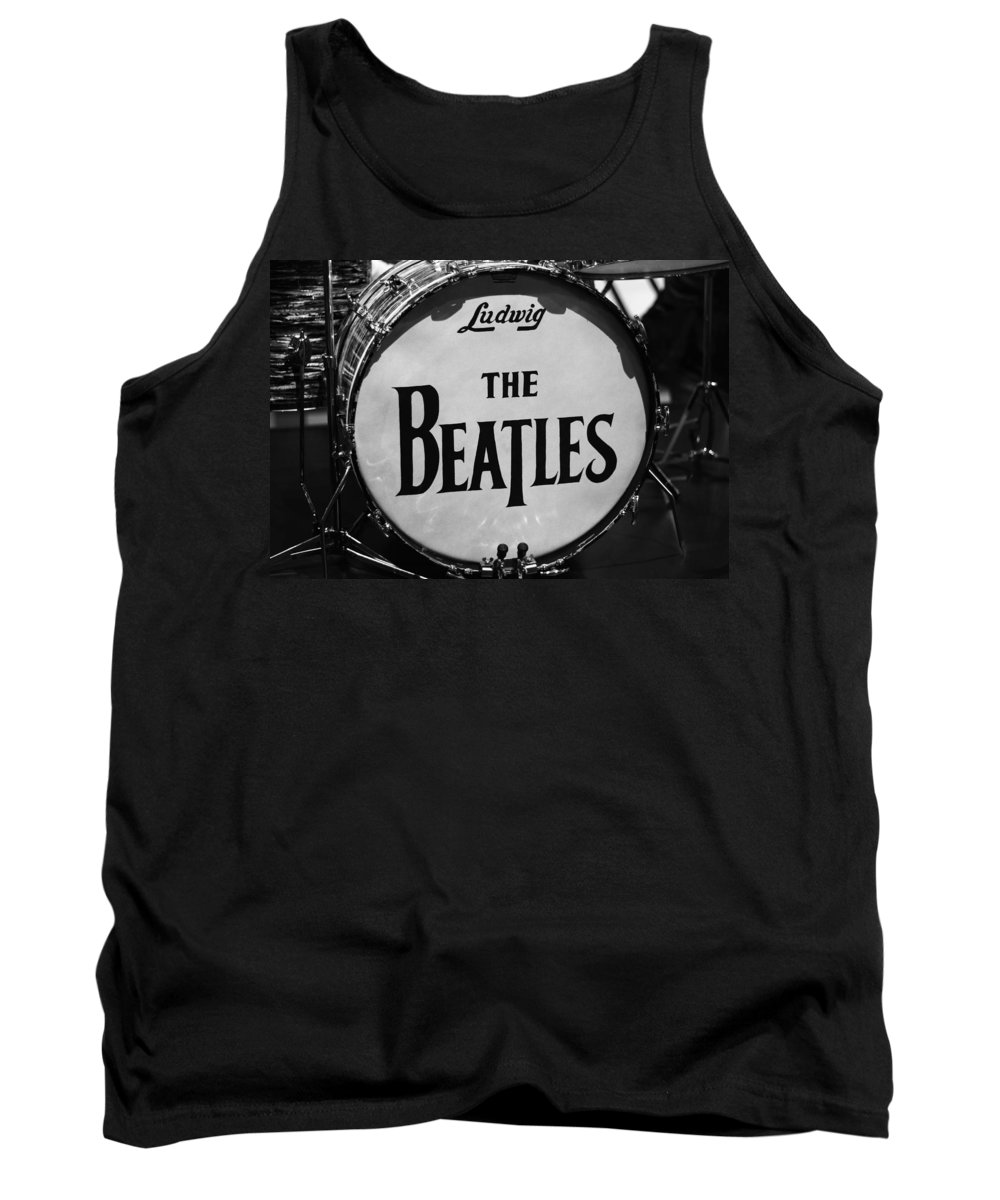 The Beatles Drum Tank Top featuring the photograph The Beatles Drum by Dan Sproul