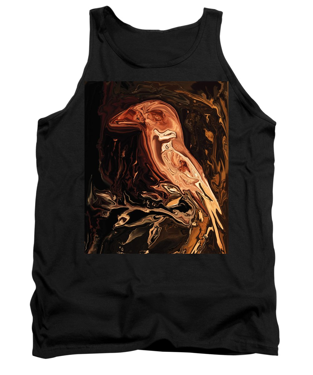 Art Tank Top featuring the digital art The Bird Unknown 2 by Rabi Khan