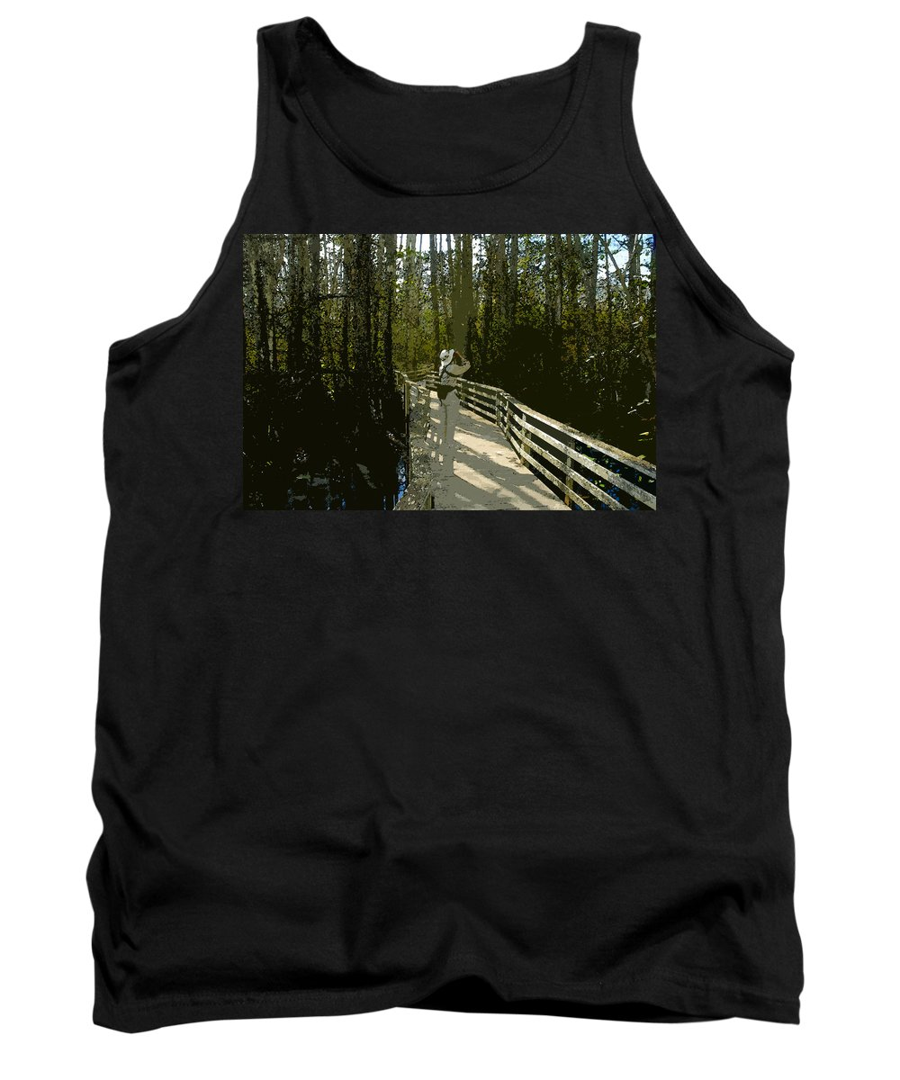 Bird Watching Tank Top featuring the painting The Birder by David Lee Thompson