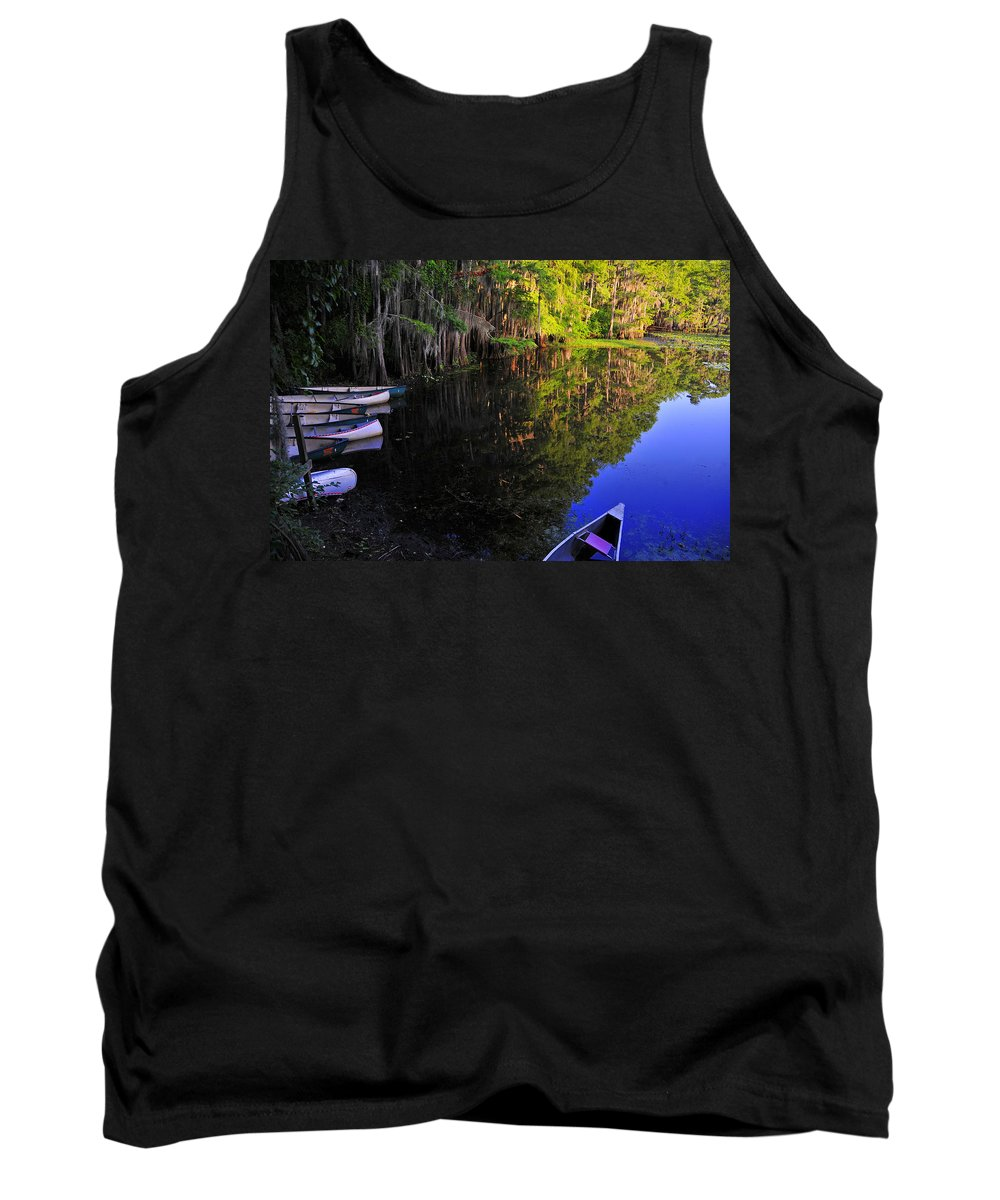 Skip Hunt Tank Top featuring the photograph The Black Lagoon by Skip Hunt