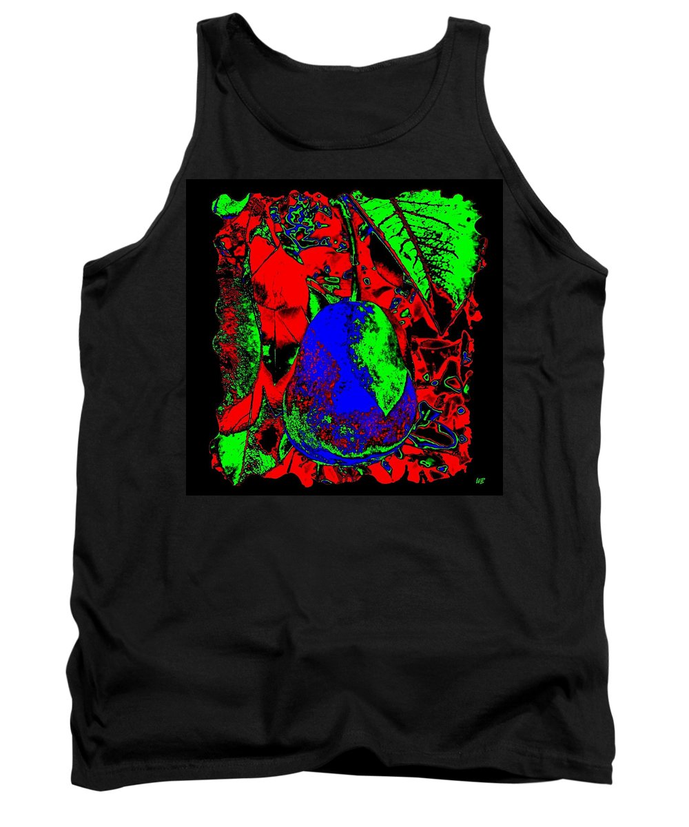 Abstract Tank Top featuring the digital art The Blue Pear by Will Borden