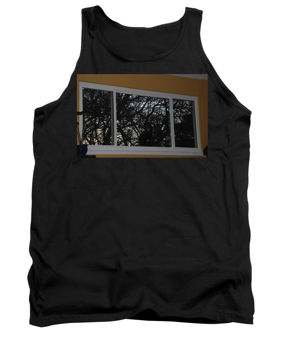 Window Tank Top featuring the photograph The Branch Window by Rob Hans