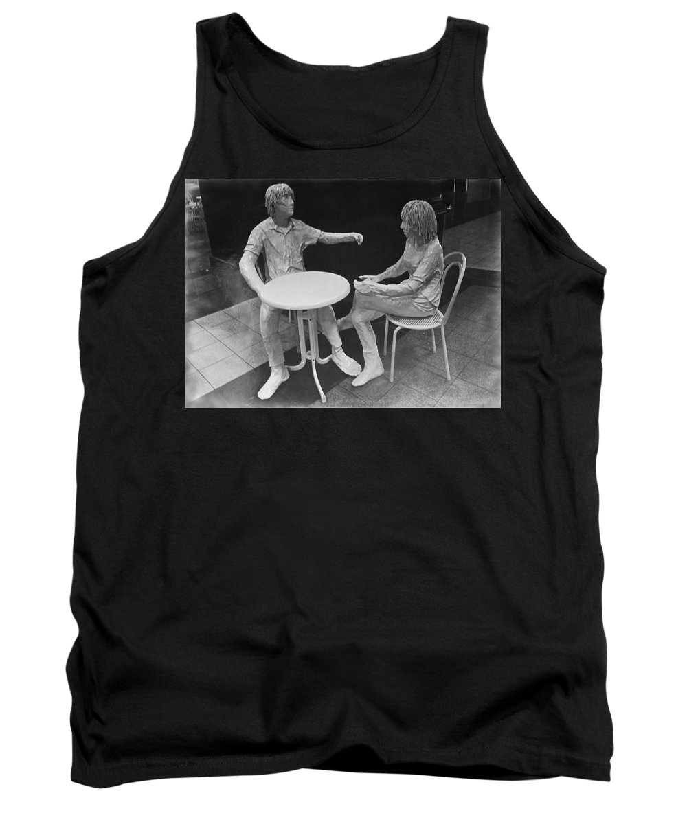 Cafe Tank Top featuring the photograph The Cafe by Mark Blauhoefer