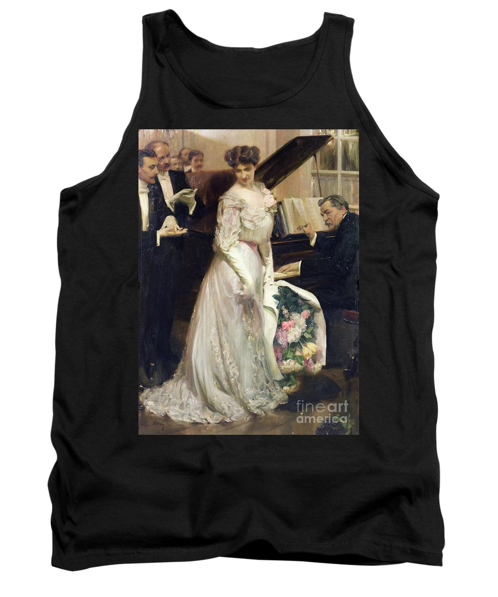The Celebrated Tank Top featuring the painting The Celebrated by Joseph Marius Avy