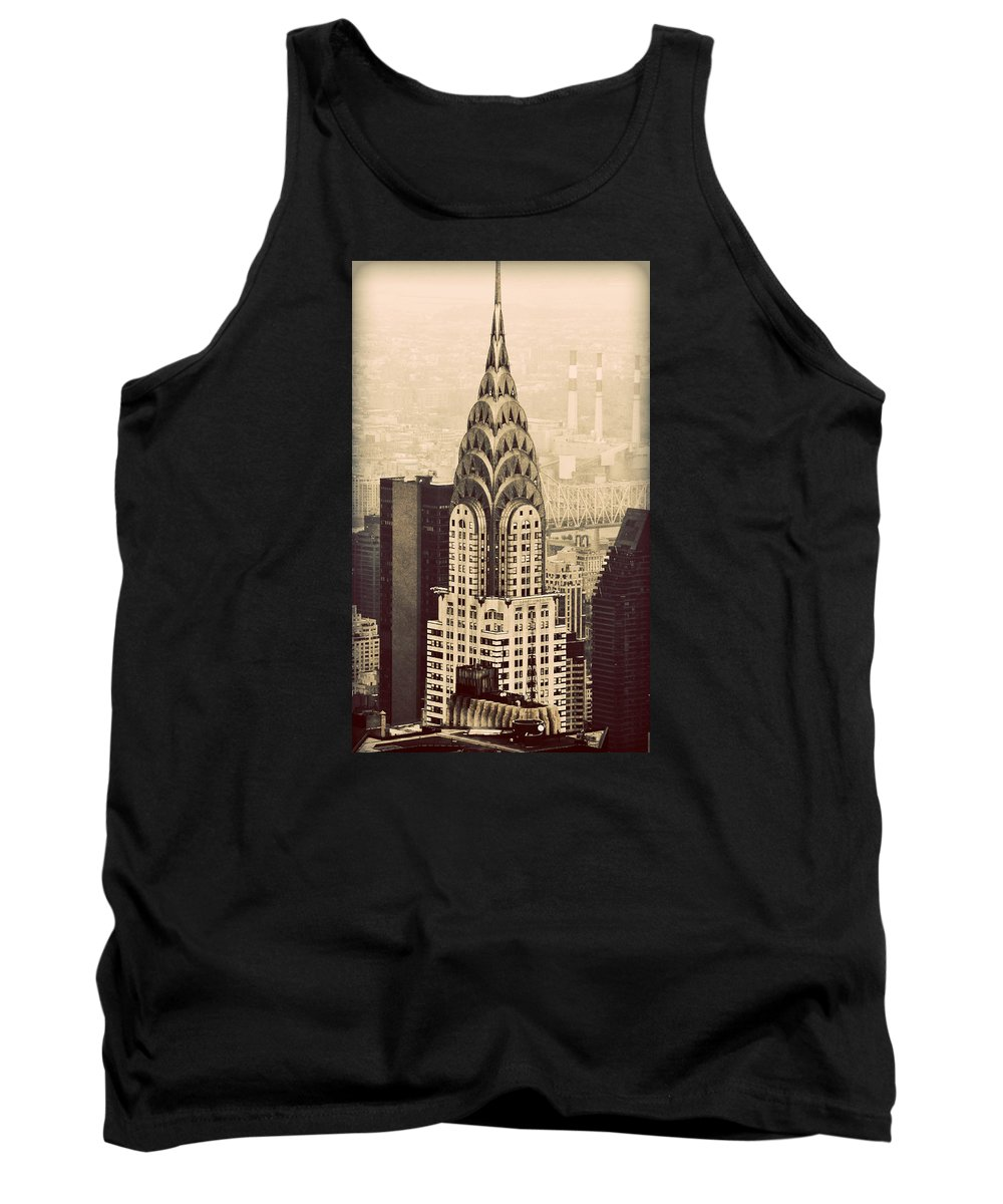 New York.chrysler Tank Top featuring the photograph The Chrysler Building New York by Richard Bartlett