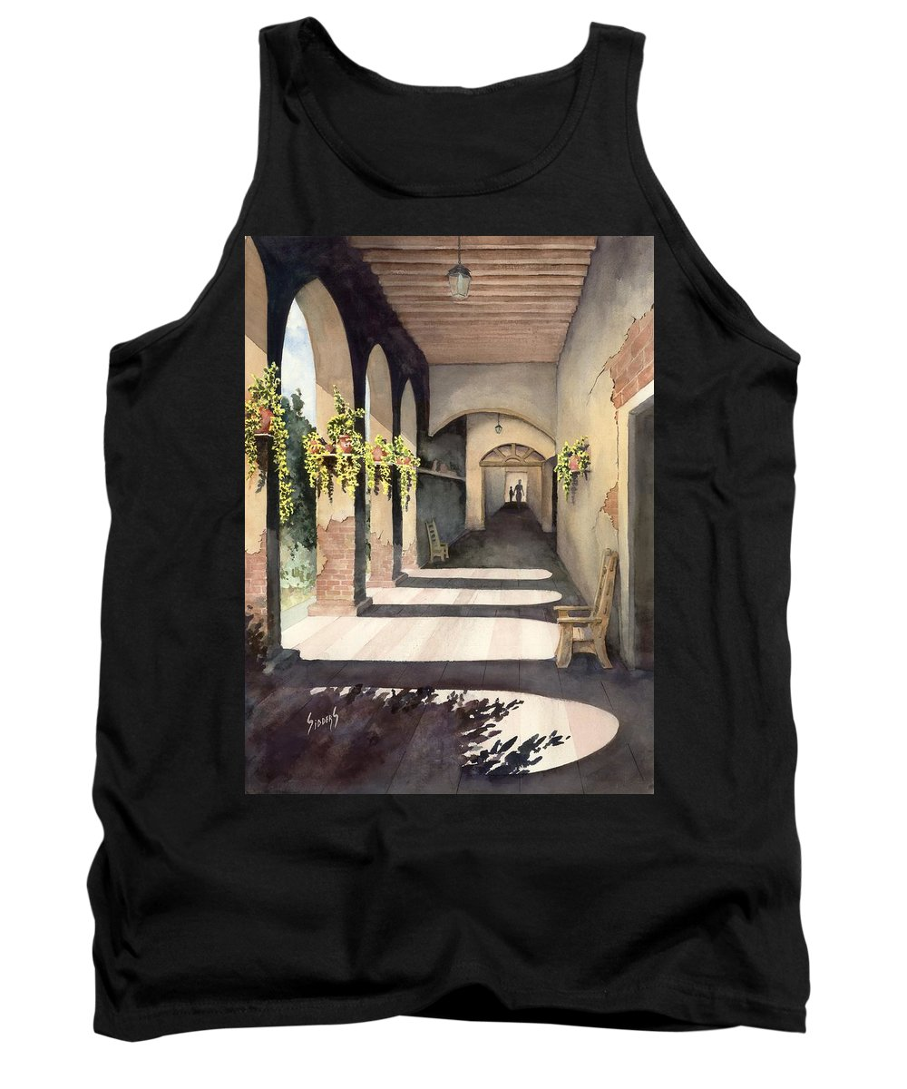Plants Tank Top featuring the painting The Corridor 2 by Sam Sidders
