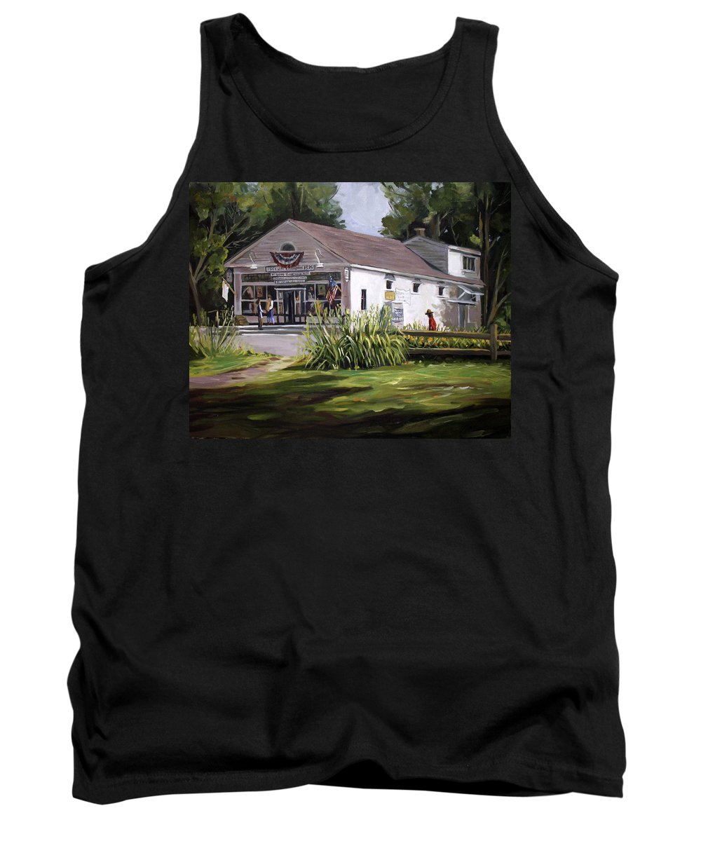 Buildings Tank Top featuring the painting The Country Store by Nancy Griswold