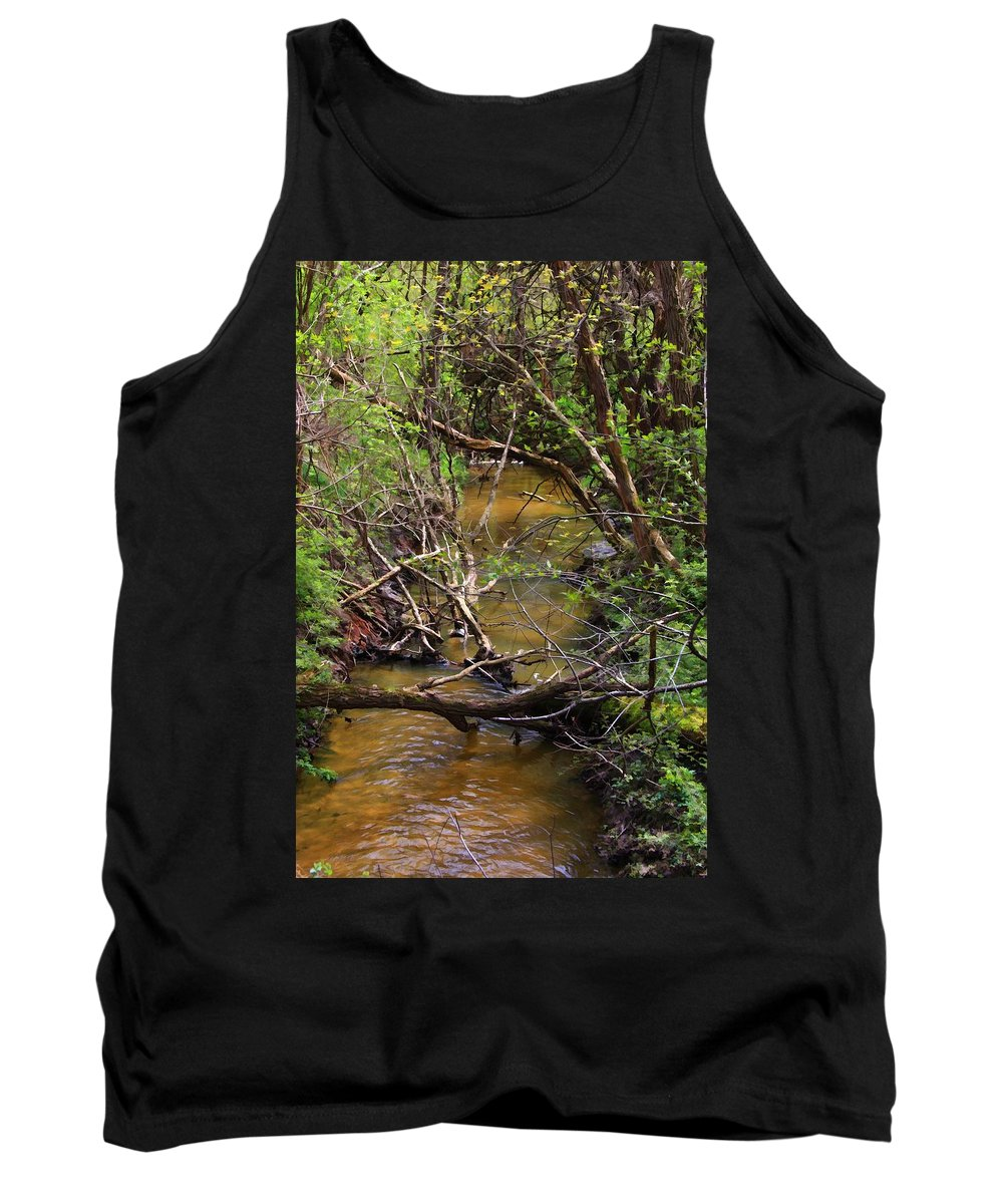 Creek Tank Top featuring the photograph The Creek by Lyle Hatch