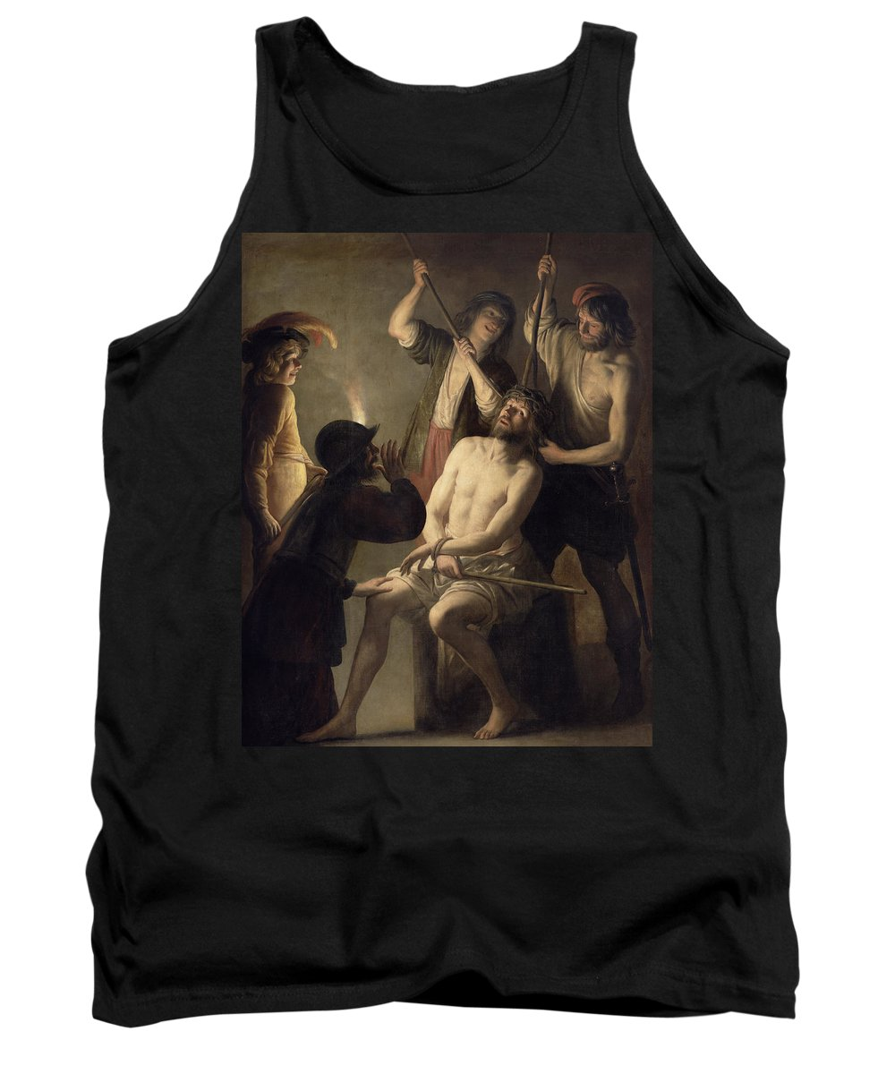 Jesus Tank Top featuring the painting The Crowning With Thorns by Jan Janssens
