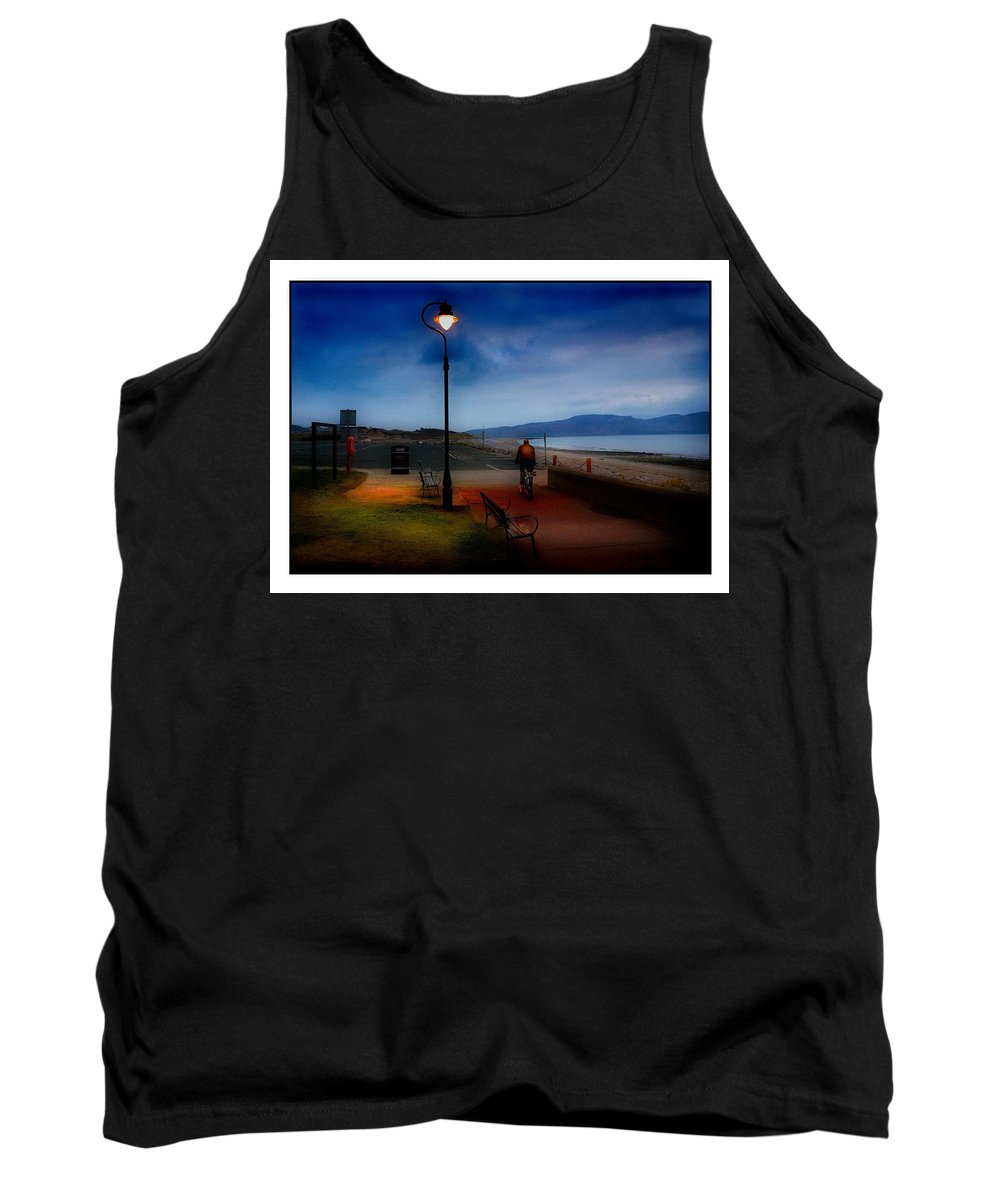 Cyclist Tank Top featuring the photograph The Cyclist by Mal Bray