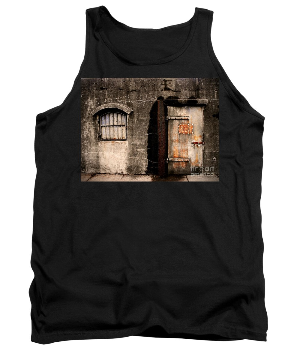 Door Tank Top featuring the photograph The Darkness by Tara Turner