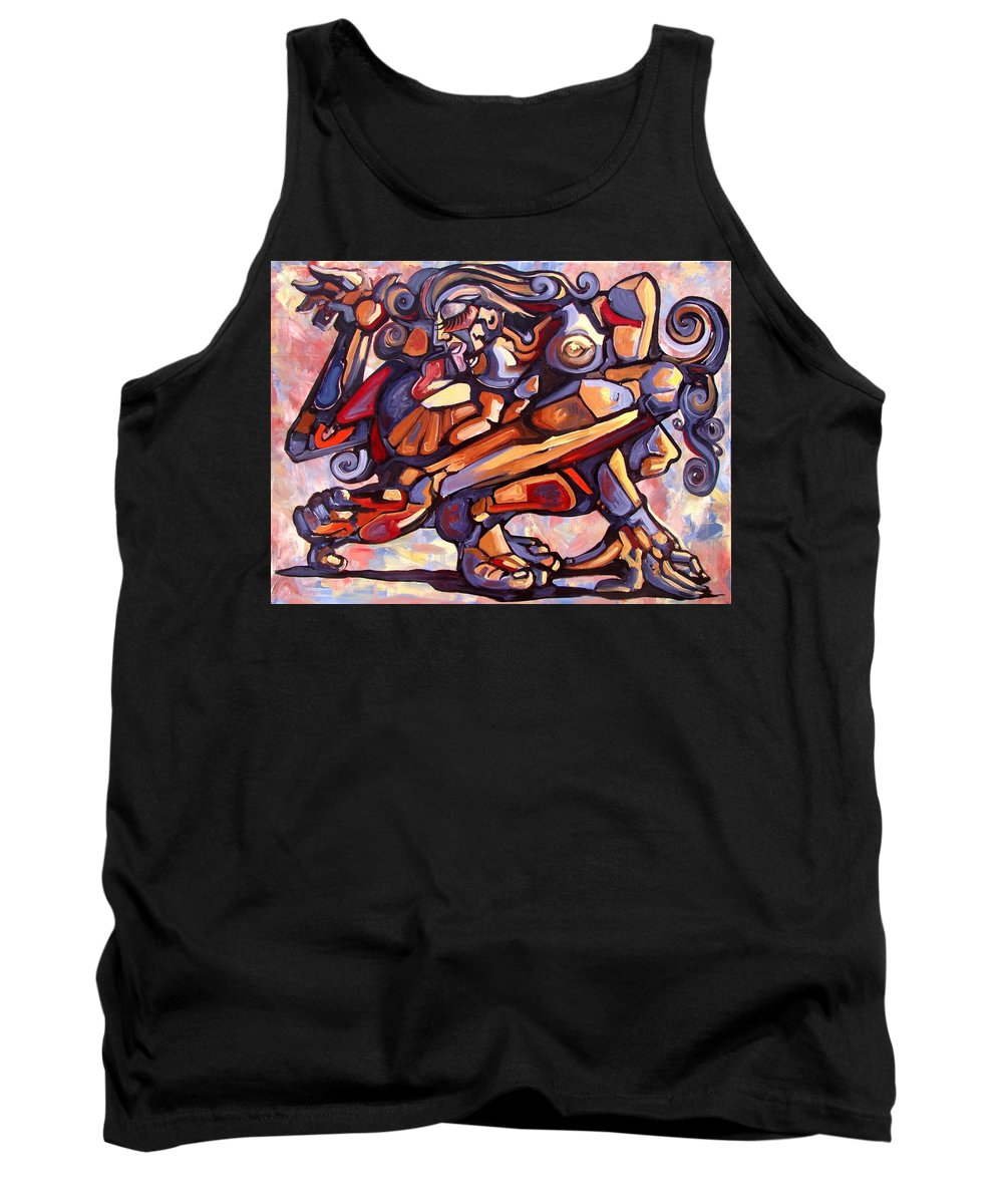 Surrealism Tank Top featuring the painting The Distortion Of The Muse by Darwin Leon