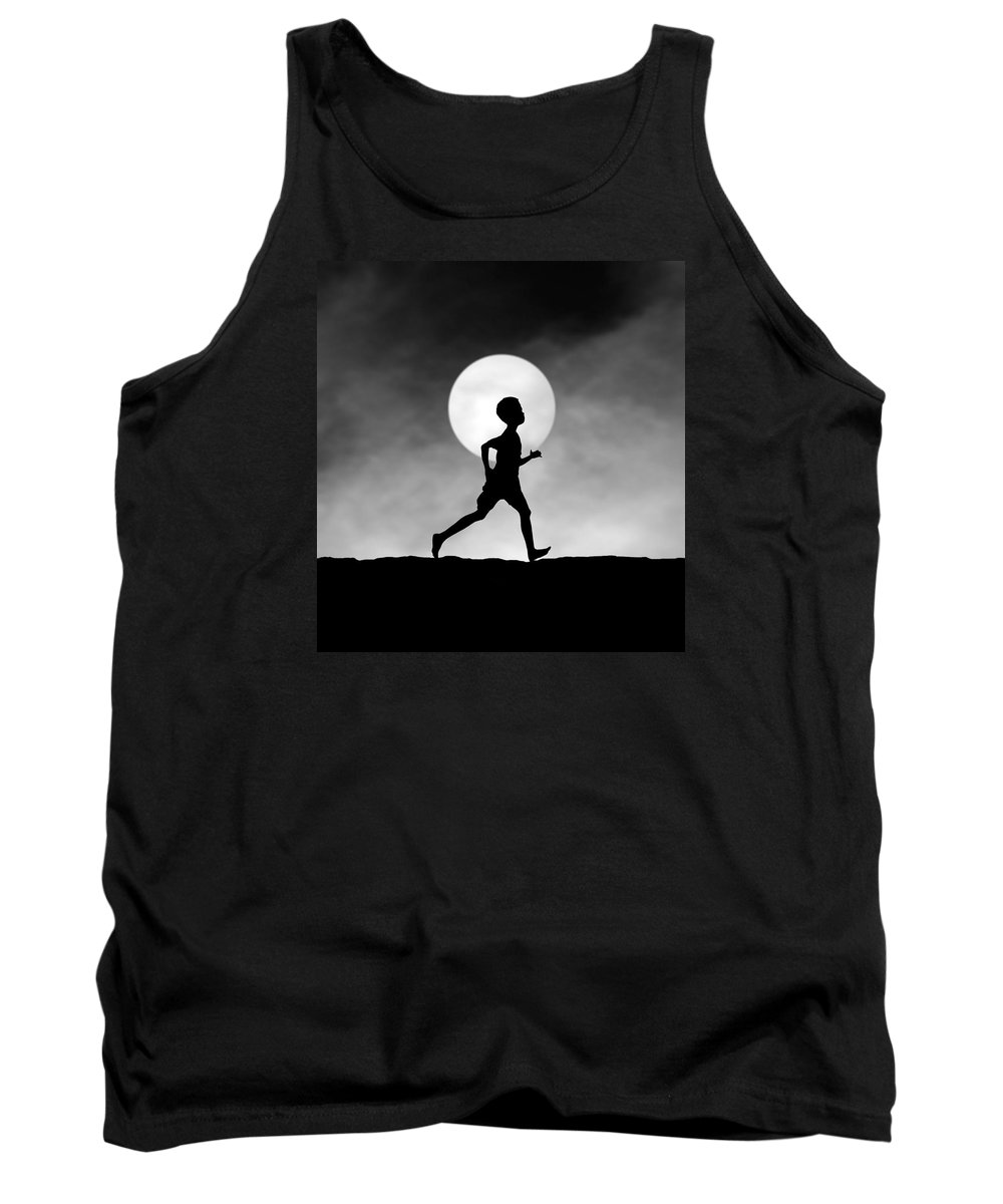 Conceptual Tank Top featuring the photograph The Dream Catcher by Hengki Lee